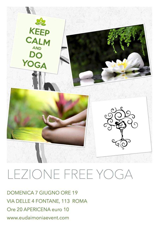 Bio Yoga lezione free aperitivo aperidomus