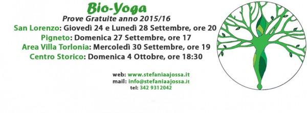 Bio-Yoga, prove gratuite yoga settembre 2015