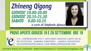 Zhineng Qigong, prove aperte a L'Espressione, settembre 2019